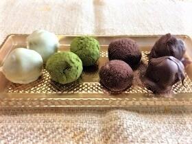 豆腐で生チョコレート