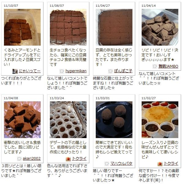 豆腐生チョコ つくれぽ